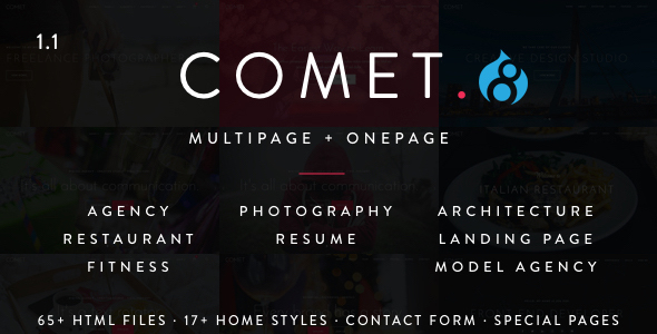 preview.  large preview - Comet - Creative Multi-Purpose Drupal 7 & 8 Theme