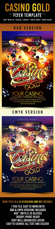 Casino Gold Flyer Template