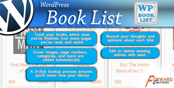 WordPress Book List - CodeCanyon Item for Sale