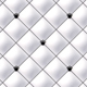White Button-Tufted Leather Background with crown buttons