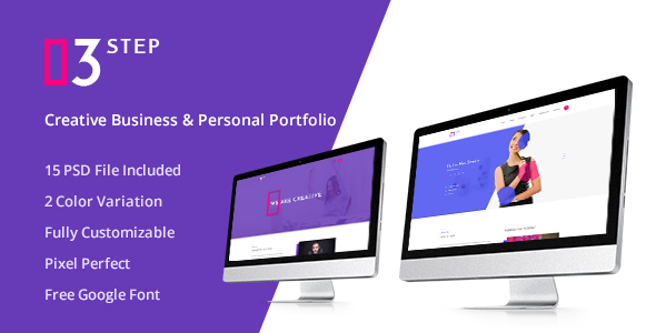 3 Step- Creative Business & Personal PSD Template