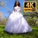 Bride Walks In The Garden 14