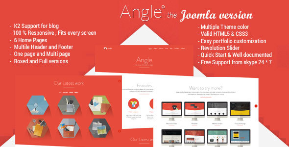 angle.  large preview - Angle - Responsive MultiPurpose Joomla Theme
