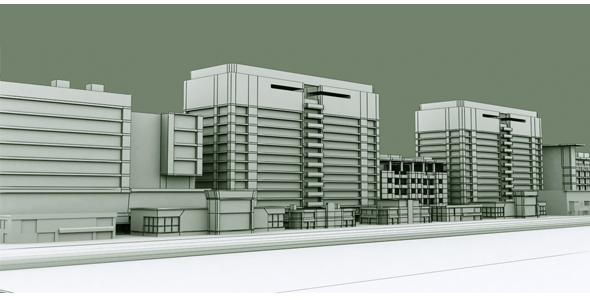 Building Set Model 3 - 3DOcean Item for Sale