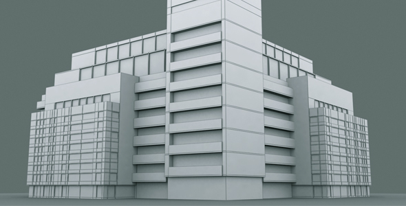 Building Set Model 4 - 3DOcean Item for Sale