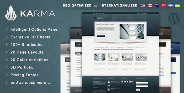 Karma - Responsive WordPress Theme - Karma - Powerful and Professional Wordpress Theme