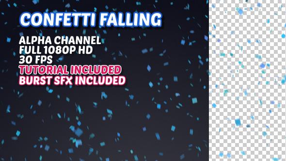 Confetti Falling - Tapahtumat Taustat Motion Graphics