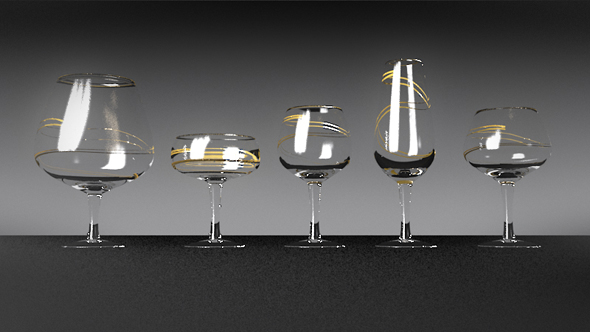 Wineglasses set - 3DOcean Item for Sale