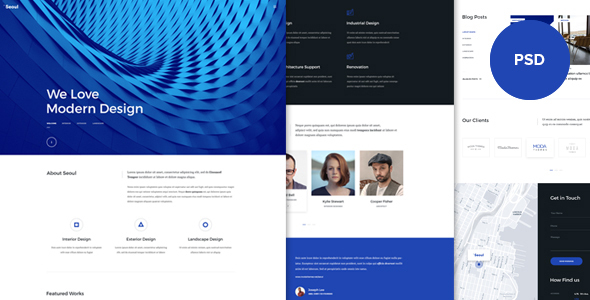 Seoul - Onepage PSD Template