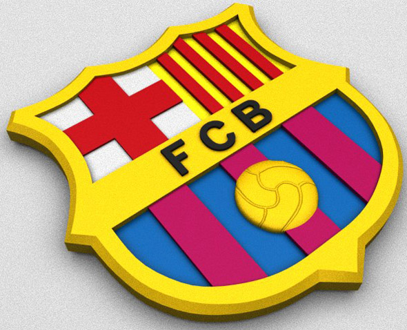 FC Barcelona Coat of Arms - 3DOcean Item for Sale