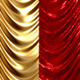 Gold and Velvet Red Curtains Open