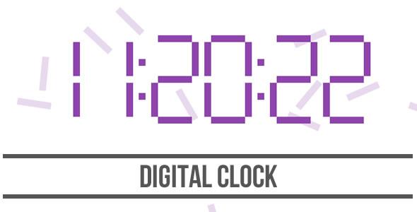 Download Digital Clock - HTML5 Canvas