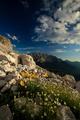 Beautiful alpine evening scenery - Dolomites, Italy