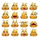 Yellow Alien Character Emoticons Set