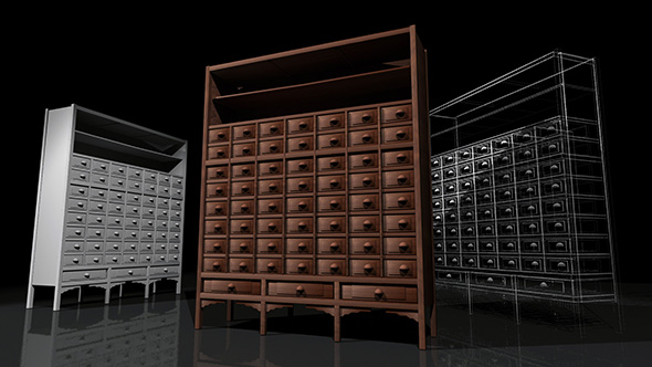 Chinese Medicine Cabinet - 3DOcean Item for Sale
