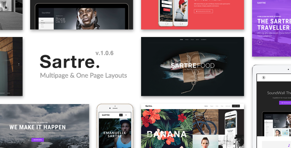 1. Sartre - Creative Multipurpose HTML Template