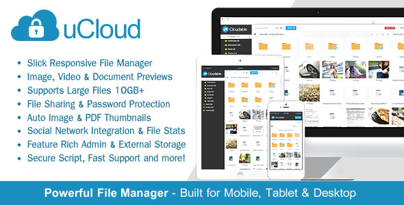 uCloud - File Hosting Script - Securely Manage, Preview & Share Your Files