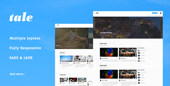 Tale - Strorytelling and Magazine Bootstrap Template