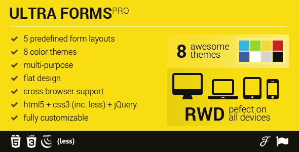 HTML5 + CSS3 sliding form layout templates - Ultra Forms PRO - CodeCanyon Item for Sale