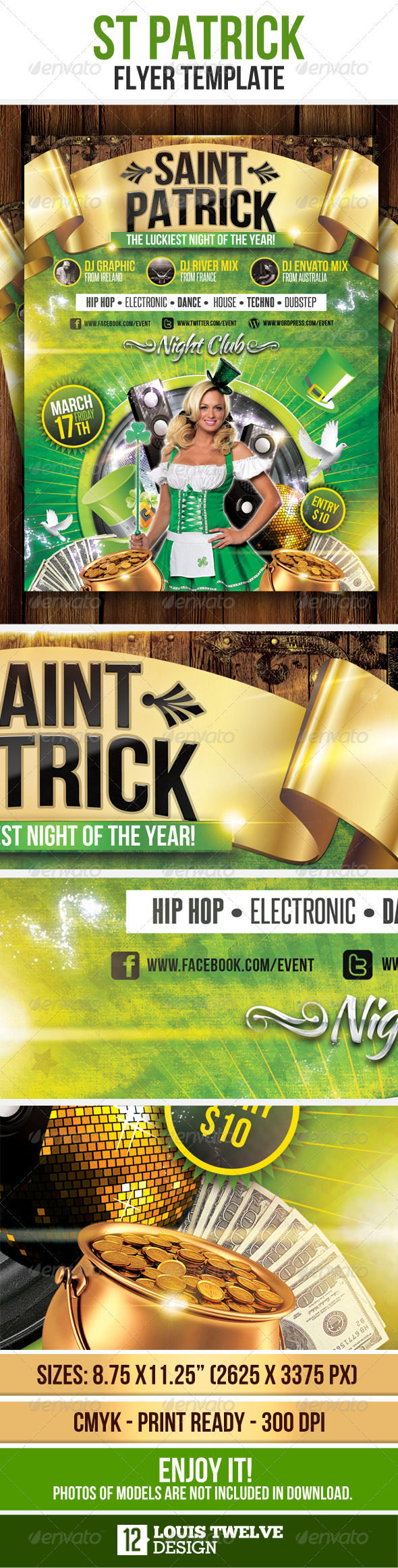 GraphicRiver St Patricks Flyer Template 1640264
