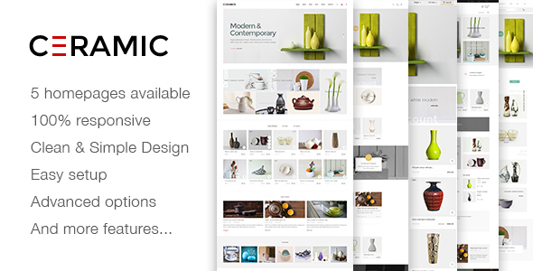 Image of JMS Ceramics - Responsive Prestashop Theme
