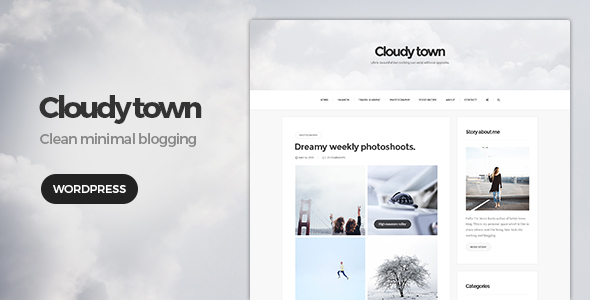 Download Cloudy Town - Clean Minimal Blog Theme nulled download