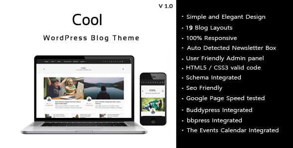 Cool – Responsive WordPress Blog theme (Blog / Magazine) Download