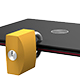 Secured Laptop with Padlock Concept