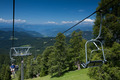 lovely alpine/mountain scenery with cableway/cable-car