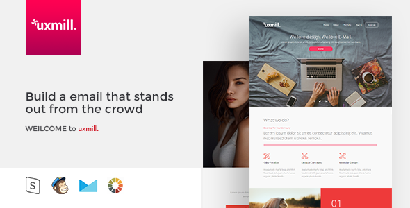 Uxmill. - Responsive Email Template