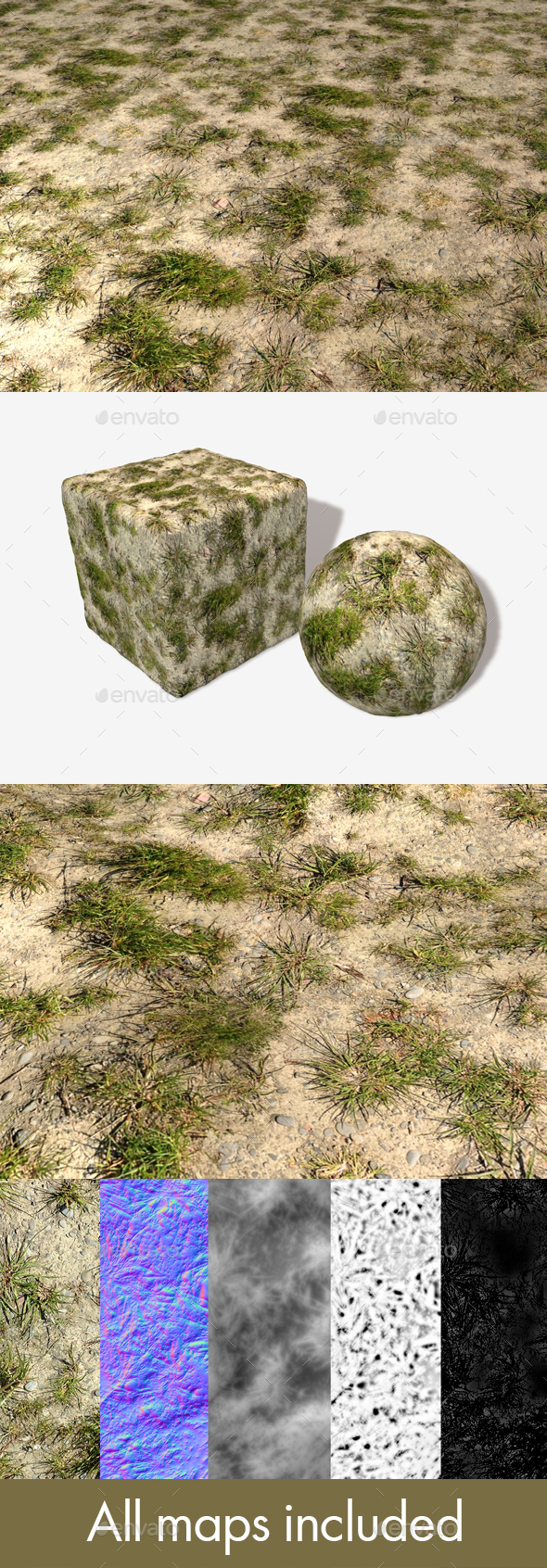 Desert Grass Seamless Texture - 3DOcean Item for Sale