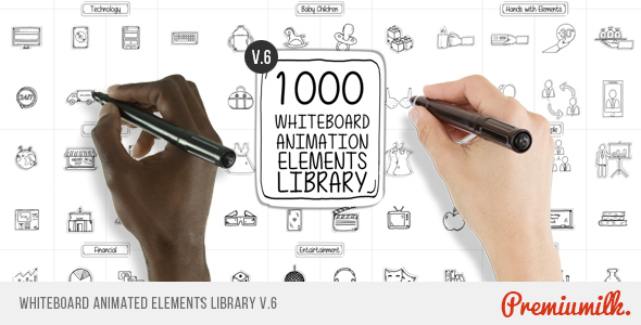 Whiteboard Animated Elements Lib-Videohive中文最全的AE After Effects素材分享平台