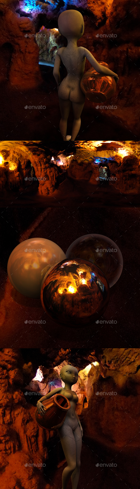 Dark Orange Cave HDRI - 3DOcean Item for Sale
