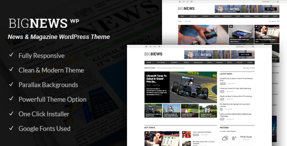 BigNews – News & Magazine WordPress Theme (Blog / Magazine) Download