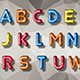 Low Poly Alphabet