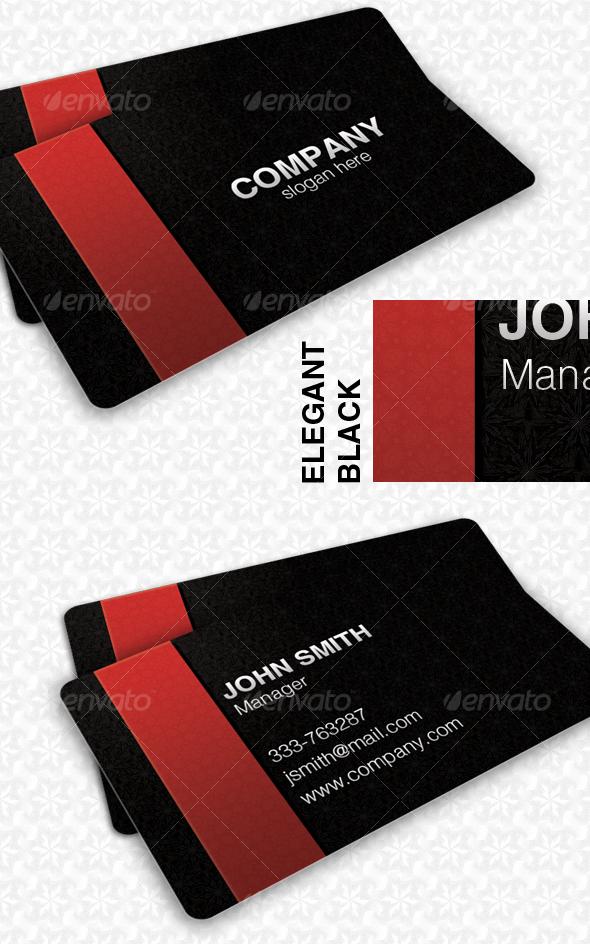 GraphicRiver Elegant Black Pattern Card 64126