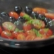 Frying Vegetables Pachino Tomatoes And Olives