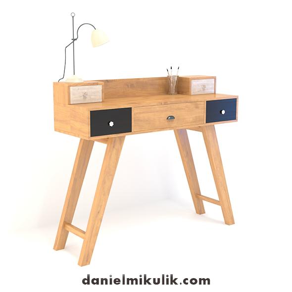 Retro Desk #14 - 3DOcean Item for Sale