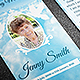Peace Funeral Prayer Card Template