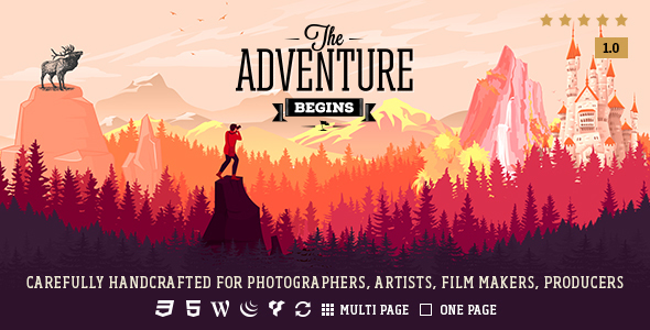 Adventure – Responsive Photography Theme (Photography) Download