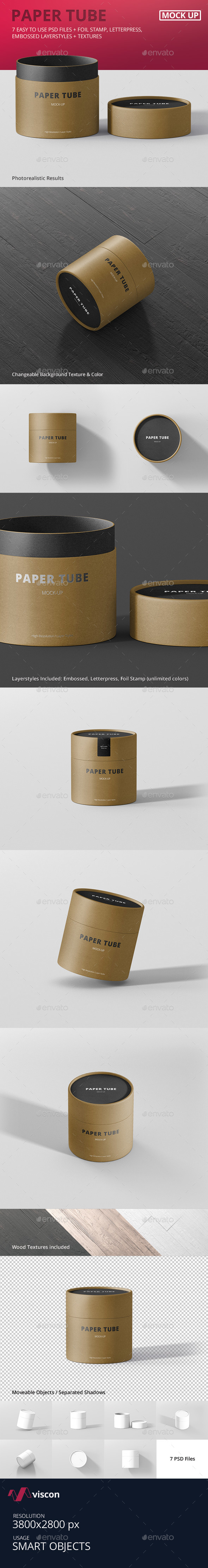 Paper Tube Packaging Mock-Up - Small