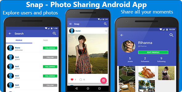 Snap - Photo Sharing Android App