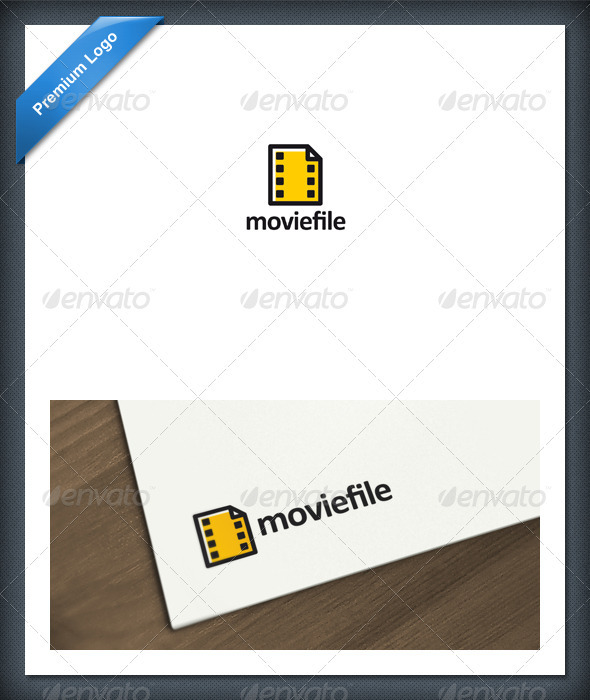 Movie File Logo Template