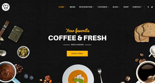Best Food & Restaurant Website Templates Joomla 2016