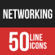 Networking Filled Line Icons