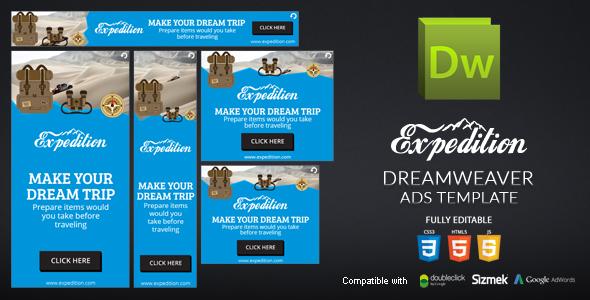 HTML5 Banner Dreamweaver Template v3