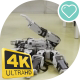 Demonstration Of a Small Robot Resembling a Scorpion On a Robotics Festival