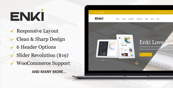 Download Enki ultimate corporate WordPress theme nulled download
