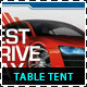 Sales & Services Table Tent Template