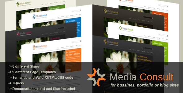 Media Consult - Business, Portfolio and Blog theme - Media Consult - Overview splash page